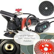 5 Variable Speed Wet Polisher Grinder Lapidary Tile Marble Stone Granite Cement