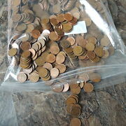Canadian 1940 - 2012 Large Lot One Cent George Vi And Elizabeth Ii Copper Coins