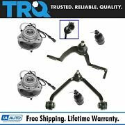 Trq Hub Bearing Assembly Ball Joint Control Arm 6pc Suspension Kit For Explorer