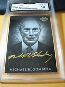 Michael Bloomberg 2016 Decision Candidate Portraits Black And White Cp13 Graded 10