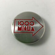 1000 Miglia Center Cap Silver Machined 2 Red Logo 6 Clips Made By Mille Miglia