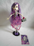 Monster High Doll / Spectra Vondergiest 1st Wave With Stand / Card And Handbag