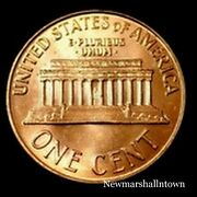1996 D Lincoln Memorial Penny Uncirculated Cent From Bank Roll