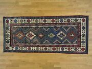 4and039x9and039 Antique Caucasian Talesh Exc Cond Wide Runner Hand Knotted Rug R28228
