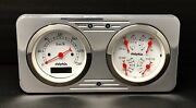 1946 Willys Jeep 2 Gauge Dash Panel Quad Style Programmable Speedometer White