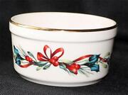 New With Tag Lenox Ivory China American Home Winter Greetings 4 3/4d Dip Bowl