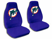 2 Cool Miami Dolphin Car Seat Covers Dark Blue Awesome