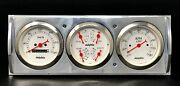 1941 1942 1943 1944 1945 1946 Chevy Truck 3 Gauge Cluster White Metric