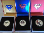 Canada 2014 Superman - Three Silver Coins, Not Including The Gold Coin