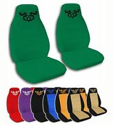 2 Front Heartagram Velvet Seat Covers With 25 Color Options