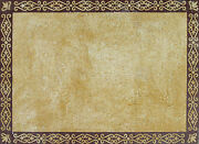 Yellow Maroon Combination Elegance Soft Colors Rug Decor Marble Mosaic Cr565