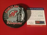 John Madden Devils Stanley Cup Champions Signed Hockey Puck Auto Psa/dna Coa