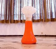 Large Vintage Italian Modern Glass Floor And Table Lamp Space Age Lampe   1960s