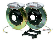 Brembo Front Gt Brake 4 Piston Silver 328x28 Slot Disc For Acura Cl Ya1 97-99