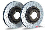 Brembo Rear 2pc Rotor Disc 350x28 Type3 Slot 987 Boxster S Spyder Cayman S R