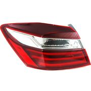 2016-2017 Replacement Outer Driver Tail Light For Honda Accord 4dr Sedan W/ Bulb