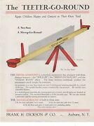 1920s Archive Drawings, Patent Papers Relating To The Teeter Go Round Auburn Ny