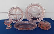 20-pieces Set For 4+ Anchor Hocking Miss America Pat Pink Depression Glass
