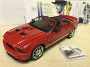 1/24 Franklin Mint Autographed Red 2007 Shelby Mustang Gt500 Convertible Signed