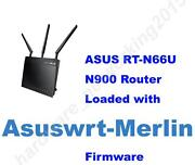 Asus Rt-n66u Rt-n66r N900 Wireless Router With Asuswrt-merlin Firmware