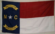 5x8 Embroidered Sewn State Of North Carolina 600d Nylon Flag 5and039x8and039 Heavy Duty