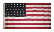 5x8 Embroidered Sewn Usa American 34 Star Linear 600d Nylon Flag 5and039x8and039