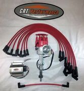 Small Block Ford 289-302 Red Small Hei Distributor Red 60k Coil + Plug Wires