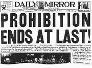 Prohibition Ends At Last Daily Mirror Newspaper 1933 Dec-17x22 Art Print-00203