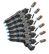 Cummins Diesel Fuel Injectors M11 Rebuilt Set Of 6 Exchange Warranty