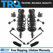 Trq Front Strut Spring Assemblies Sway Links Tie Rods Ball Joints Rack Boots Kit