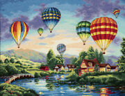 Gold Collection Balloon Glow Counted Cross Stitch Kit-16x12 18 Count