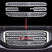 2015-2020 Gmc Yukon Xl Chrome Snap On Grille Overlay 3 Bar Grill Covers Inserts