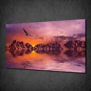 Dramatic Dismal Rocks Sunset Eagle Canvas Wall Art Print Picture Ready To Hang