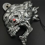 Chrome Zombie Horn Cover W/ Led For 92-20 Harley Cowbell And All V-rodand039s