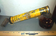Vintage Flit Sprayer, Wood Handle And Amber Glass Container, Great Colors