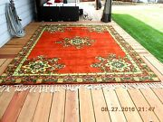 1973 Moroccan Hand-knotted Rug By Rabat Village Women Never Used 9 X 12 Read