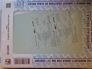 Microscale Decal N 60-4309 Data Freight Car Builders Plates And Logos Dates1977