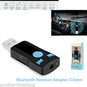 3.5mm Usb Bluetooth Receiver Adapter For Stereo Audio Receiverandadapter Speakers