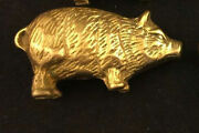 Lucky Farm Pig Sow Hog Country Home Good Luch Wealth Money Statue Figurine Oink