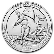 2016 5 Oz Silver Atb Fort Moultrie National Monument Sc