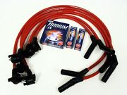 94-98 Ford Mustang V6 Huge 10.2mm Spark Plug Wires And Ngk Iridium Ix Plugs Red