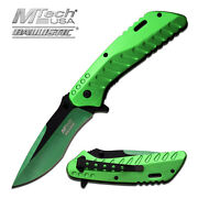8.25 Mtech Tactical Spring Assisted Folding Knife Blade Pocket Open Switch