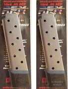 Two Chip Mccormick 1911 Railed Power Mag 45acp 10rd Magazines 17150 Fast Ship