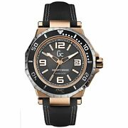 Gc Guess Collection X79002g2s Aquasport Black And Rose Gold Men's Watch