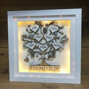 Led Light Box Frame -family Tree Gift -love -scrabble - Floral - Crystals