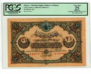 Turkey/ottoman Andhellip P-100 Andhellip 2 1/2 Livres Andhellip L.ah13321916-17 Andhellip Vf Pcgs 25.