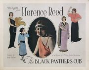 Black Panther's Cub, The 1921 Half Sheet Poster Ft. Florence Reed / Art Nouvea