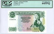 Mauritius ... P-32b Andhellip 25 Rupees Andhellip Nd1967 Andhellip Ch Unc ... Pcgs 64 Ppq