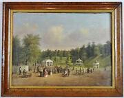 Fine Americana 19c Folk Art Painting W African American Frm Prominent Ny Gallery