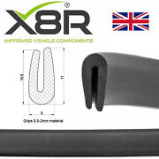 Small Black Rubber U Channel Edging Edge Trim Seal 0.5mm 1mm 2mm Protection